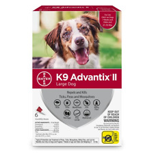 K9 Advantix II Flea Tick and Mosquito Prevention for Dogs 6 doses