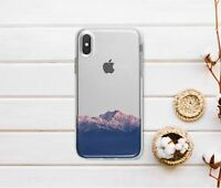Mountains iPhone XS Max Rubber Cover Nature iPhone 7 8 Plus Clear Case iPhone SE