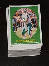 LOT OF 90 2007 TOPPS DAN MARINO TURN BACK THE CLOCKS INSERT FOOTBALL CARD # 18