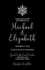 Winter Snowflake Wedding Invitations 50