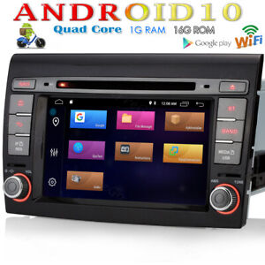 """Für Fiat Bravo 2007-2012 GPS DAB+ Autoradio Android 10 NAVI 7"""" OBD+ WIFI DVR SD"""