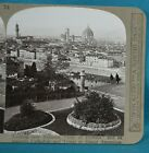 Stereoview Photo Italy Florence Looking Over City Of Flowers Realistic