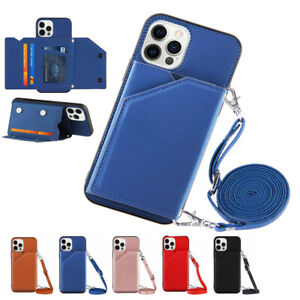 Lanyard Card Pocket Wallet Case Cover Anti-fall for iPhone 12 Mini 11 Pro Max XS