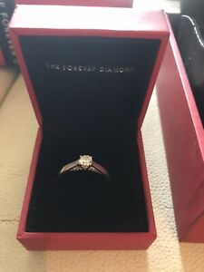 The Forever Diamond 18ct White Gold solitaire Engagement Ring With Certificate