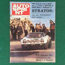 AUTOSPRINT n.14/1975 LANCIA STRATOS LELE PINTO Rivista/Magazine