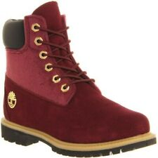 RRP 180 Rare Exclusive premium 6 Burgundy pony Fur Gold Timberland Boots size 3