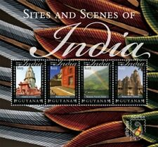 Guyana - 2011 - Indipex 2011 Sites And Scenes Of India - Sheet Of 4 - MNH