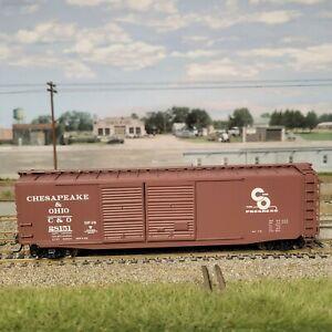 HO Intermountain 50' PS-1 Double Door Box Car Chesapeake & Ohio C&O 45606