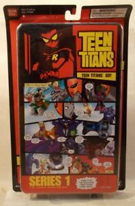 "Teen Titans Go! 1.5"" Comic Book Heroes Ser 1 Pg 3 Raven Beast Boy Robin Trigon"