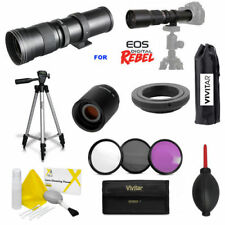 VIVITAR HD 420-1600MM F8 SPORTS ACTION ZOOM LENS FOR CANON EOS REBEL DSLR CAMERA