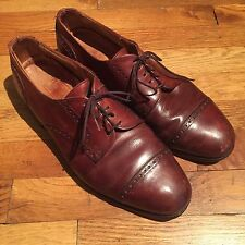 Allen Edmonds Chili Burnished Calf Leather Benton Cap Toe Oxford Shoes Size 11 D