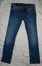 Silver McKenzie Button Fly Boot Cut Thick Stitch Jeans Size 30 x 30