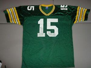 Vtg Champion Green Bay Packers Screen NFL #15 Bart Starr Jersey Fits Men 52 2XL