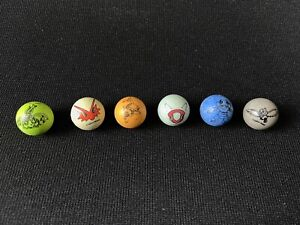 Pokemon Marble Mixed Lot 6 Solid Color Marbles
