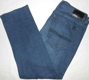 34x30 Buffalo David Bitton STRETCH Jackson-X Straight Leg Blue Jeans Flex Denim