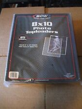 Lot of 5 8x10 BCW Rigid Toploaders Photo Holder w/sleeves