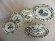 Blue Staffordshire Pottery Tableware c.1840-c.1900 Date Range