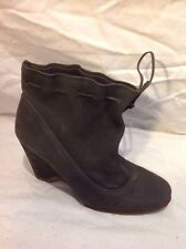 Unisa Grey Ankle Leather Boots Size 36