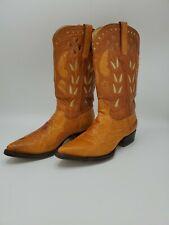 Cudra Cowboy Boots Exotic Leather Ostrich Upper Alligator Lower