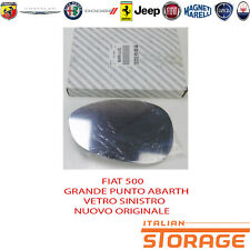 FIAT 500 GRANDE PUNTO ABARTH VETRO SPECCHIO SINISTRO NUOVO ORIGINALE 71740496