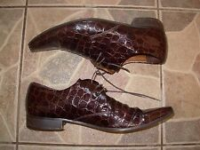 Amazing Lambieri cowboy style loafer shoes size 41 Crocodile design