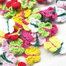 New 14PCS Crochet Knitting Butterfly Craft Sweater Hat Glove Decor Mix
