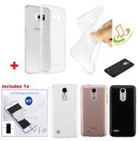 Samsung GALAXY J7 2018 Clear Rubber Silicone Gel Hybrid TPU Soft Case Cover +Kit