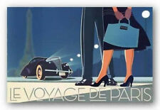 RETRO ART PRINT - Le Voyage De Paris II by David Brier 24x36 France Poster