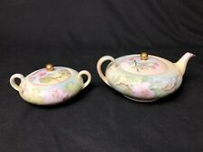Antique O&EG Royal Austria 1/2 Cup Sugar Bowl with Lid & 12oz Creamer With Lid