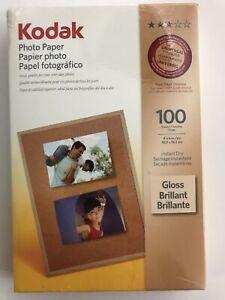 "Kodak Photo Paper Gloss 100 Sheets 4""x6"" Instant Dry"
