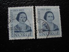 NORVEGE - timbre yvert et tellier n° 451 x2 obl (A30) stamp norway (R)