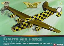 Corgi AA34007 B-24D Liberator USAAF 448th BG You Cawn't Miss It NEW 0361/2000