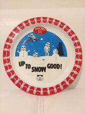 Childrens Plastic Round Star Wars Plate 22cm Diameter Red White Fun Novelty