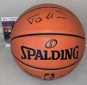 Toni Kukoc Chicago Bulls signed F/S NBA Replica Game Basketball Ball HOF JSA