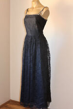 VINTAGE FLORAL LACE NETTING SEQUIN PROM PARTY DRESS 12