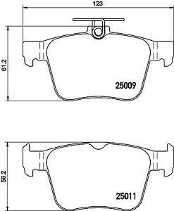 Hella Pagid Rear Brake Pads fits VW TIGUAN AD1, BT1 2.0 TSI 4motion 110 TSI