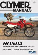 Cylmer Repair Service Shop Manual Vintage Honda XR600R 1991-2000 XR650L 1993-12