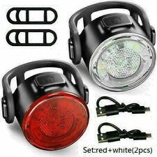 Fahrradlicht Set Vorne Hinten Lampe CL Fahrradbeleuchtung Scheinwerfer LED USB
