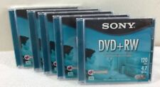 A Lot Of 5 Sony DVD+RW Rewritable 120 Minute 4.7 GB 1x-4x Write Speed DPW47L2