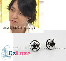 Korean Tohoshinki TVXQ DBSK Micky Black Epoch Star Earrings stud