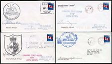 CANADIAN ARCTIC PATROL 4 SIGNED COVERS NAMED SHIPS etc 1997...L1