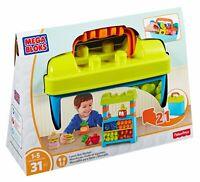 Mega Bloks First Builders Lunch Box Market Preschool Building Set - 31 Piece