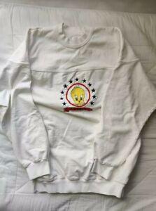 Acme Tweety Bird Sweatshirt - M, ca. 1990s, Vintage, Embroidered, Looney Tunes