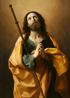 Beautiful Oil painting Salome Guido Reni - Male portrait St. James on canvas