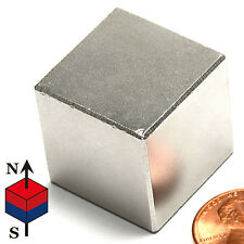 "CMS Magnetics® Very Strong N45 Neodymium Cube Magnet 1"" 1-pc BEST SELLER!"
