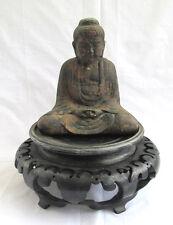 Antiguo Antigüedad Japonés Amida Buda Después de Kamakura en Hierro Fundido,