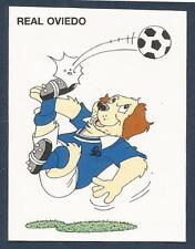 PANINI FUTBOL 93-94 SPANISH -#191-REAL OVIEDO-CARTOON DOG