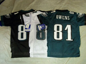 TERRELL OWENS #81 PHILADELPHIA EAGLES YOUTH NFL REPLICA JERSEY FREE SHIPPING!