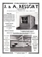Publicité ancienne J. & A. Ressort Fours pour boulangerie  1953 issue magazine