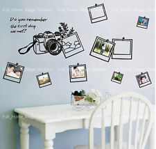 Family Photo Frames Camera Wall Stickers Home Decor Vinyl Paper Art Decal Kids